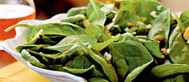 Spinach Salad with Gorgonzola, Pistachios, and Pepper Jelly ...
