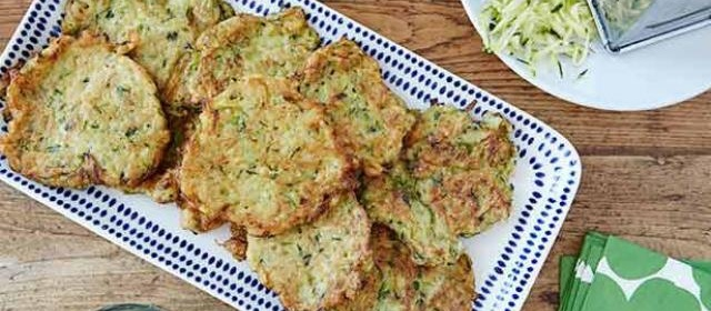 Zucchini Pancakes Recipe | Ina Garten | Food Network