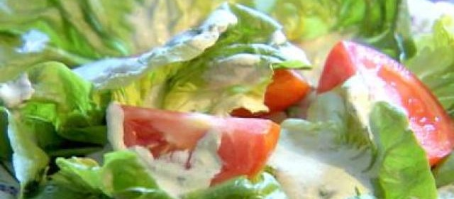 Green Salad With Creamy Feta Dressing Recipe | Trisha Yearwood ...