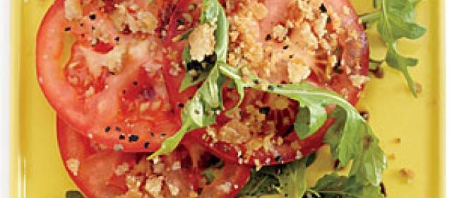 Tomato Salad with Caesar Breadcrumbs