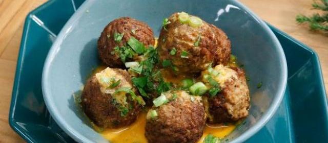 Veggie Meatballs with Coconut Red Curry Sauce Recipe   Katie Lee ...