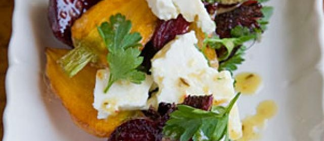 Roasted Carrot and Beet Salad with Feta, Pulled Parsley, and ...