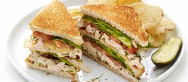 Chicken-Potato Chip Club Sandwiches