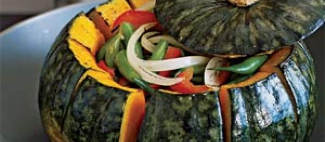 Roasted Kabocha Squash Bowl with Autumn Vegetables Recipe ...