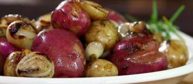 New Potatoes with Grilled Onion Butter