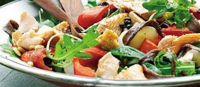 Roast pepper & salmon platter