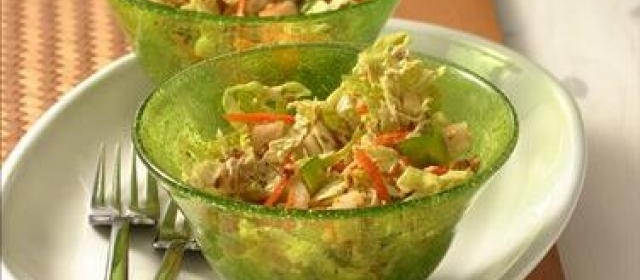 Chinese Cabbage Salad with Sesame Dressing