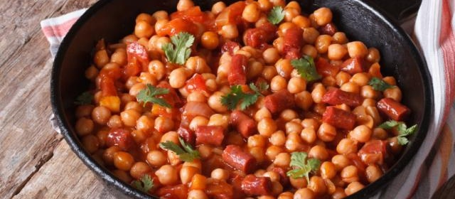 Cuban Sauteed Chickpeas with Chorizo