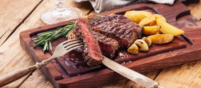 Sheet Pan Flank Steak, Greens, and Yukon Gold Fries