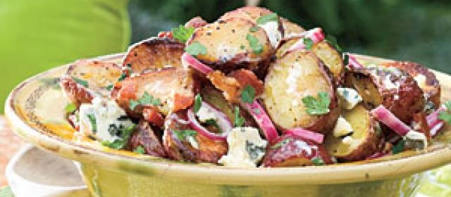 Big Daddy's Grilled Blue Cheese-and-Bacon Potato Salad Recipe ...