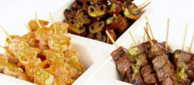 Sesame Beef and Scallion Kebabs Recipe | Food Network