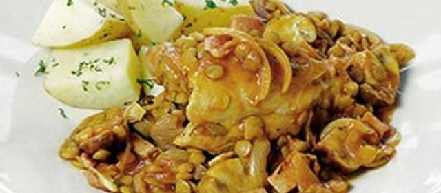 One-pot lentil chicken