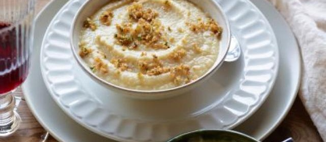 Cauliflower Soup with Anchovy Breadcrumb Topping Recipe ...