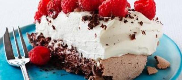 Chocolate Raspberry Pavlova