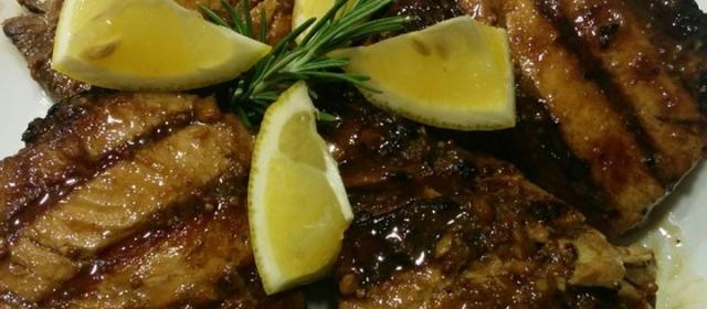 Grilled Yellowfin Tuna with Marinade
