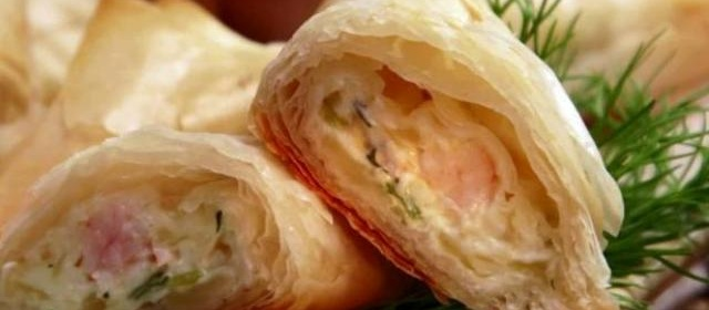Shrimp and Cream Cheese Phyllo Triangles Recipe