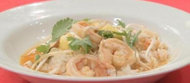 Thai Red Curry Shrimp with Jasmine Rice