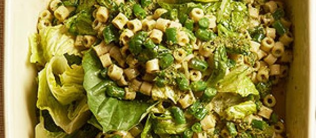 Green Beans and Pesto Pasta