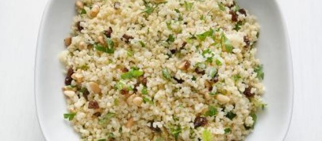 Bulgur with Raisins and Pine Nuts