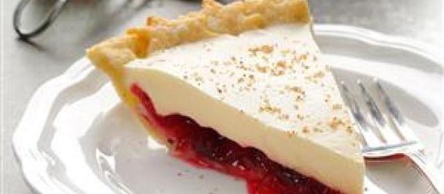 Eggnog Cranberry Pie