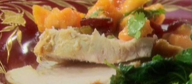 Roasted Turkey with Papaya-Cranberry Salsa Recipe