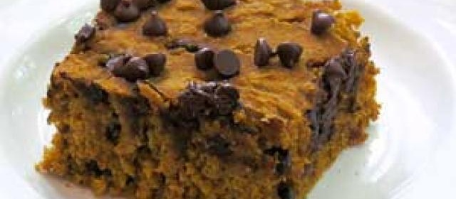 Gluten-Free Pumpkin Bars with Chocolate Chips