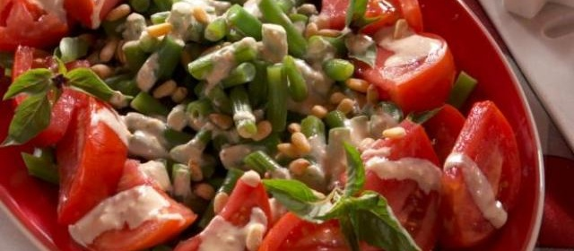 Fresh Bean and Tomato Salad with Creamy Caesar Vinaigrette ...