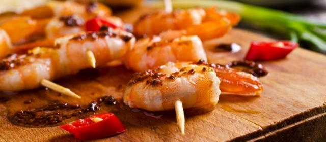 Grilled Pesto Shrimp Skewers