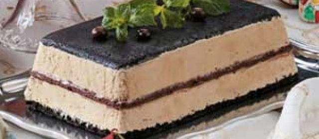 Layered Coffee Ice Cream Dessert