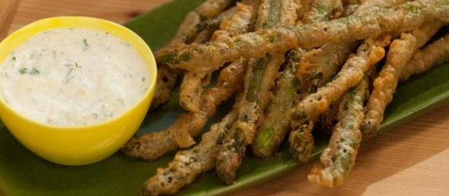 Sunny's Beer Battered Moroccan Asparagus with Dip Recipe ...