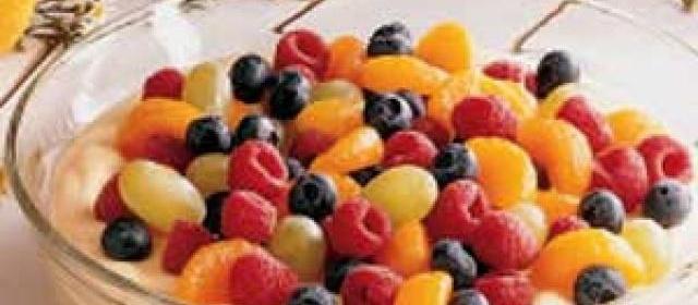 Fruit-Topped Almond Cream