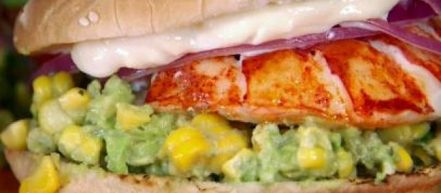 Grilled Lobster Sandwich with Charred Corn and Avocado Salsa ...