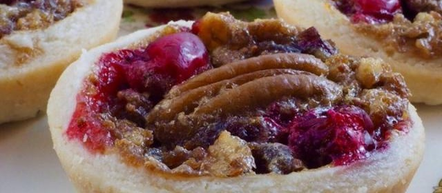 Pecan Cranberry Butter Tarts