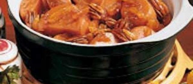 Maple Sweet Potato Casserole with Apricots