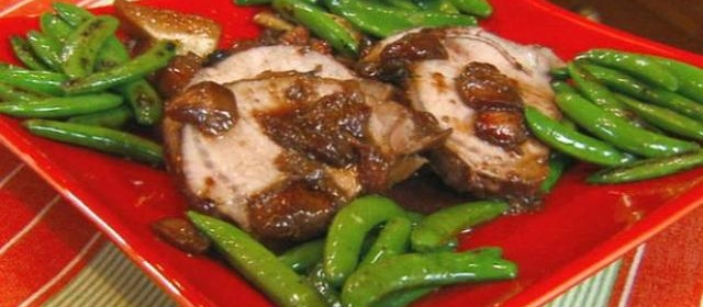 Pork Roast with Cumin-Spiked Mixed Berry Sauce and Roasted ...