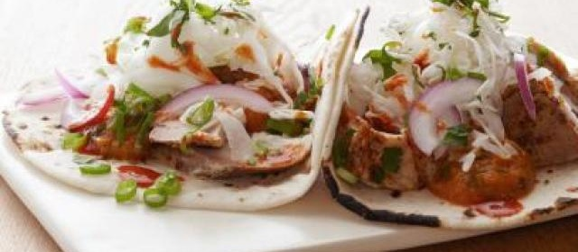 Fish Tacos with Chipotle Cream Recipe | Ellie Krieger | Food Network