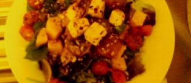 Spicy Squash and Tofu Salad