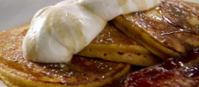 Orange Pumpkin Pancakes with Vanilla Whipped Cream, Cinnamon ...