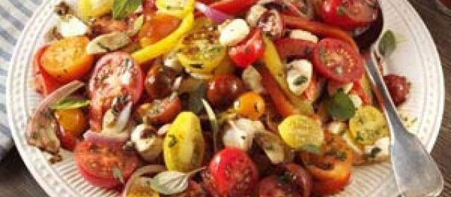 Roasted Pepper Salad with Balsamic Vinaigrette