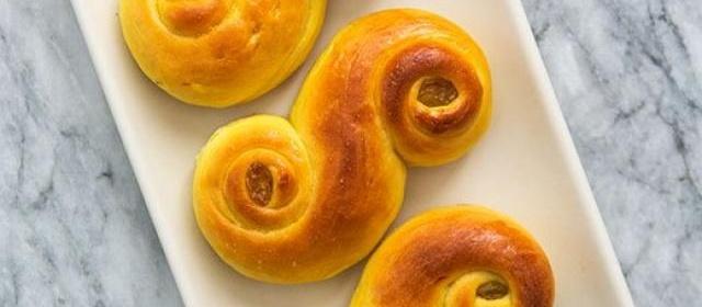 St. Lucia Saffron Buns Recipe, Swedish Lussekatter Rolls ...