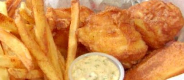 Beer Batter Fish and Spicy Chips with Lemon-Habanero Tartar ...