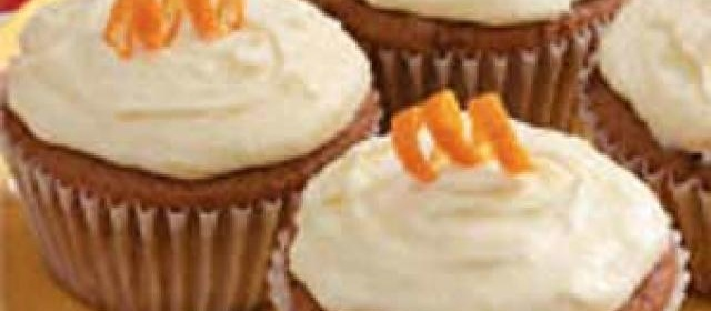 Orange Applesauce Cupcakes