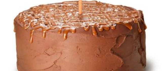 Chocolate-Orange Cake With Salted Caramel