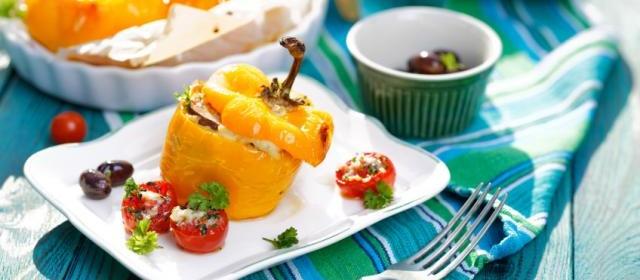 Greek Stuffed Pepper