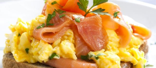 Shirred Eggs with Smoked Salmon