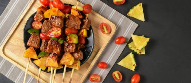 Sweet-and-Sour Pork Skewers with Pineapple