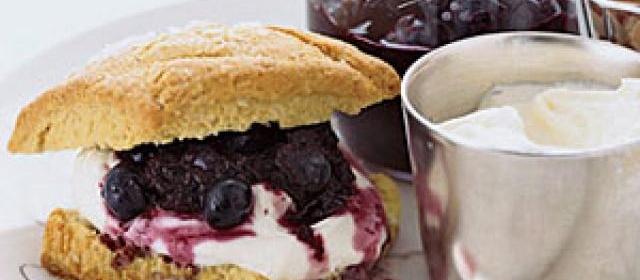 Blueberry-Almond Shortcakes with Crčme Fraîche Recipe ...