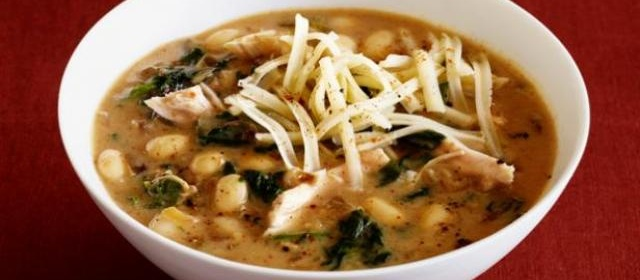 Melissa d'Arabian's White Chili with Quick-Roasted Garlic Recipe ...