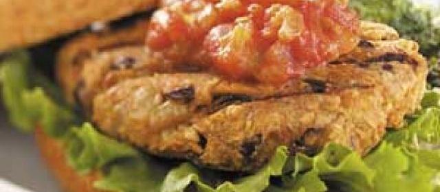 Grilled Bean Burgers