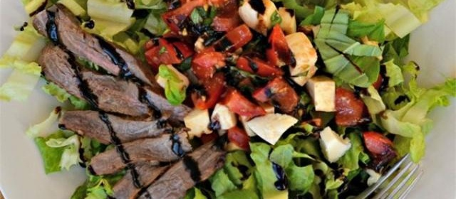 Caprese Salad with Grilled Flank Steak Photos